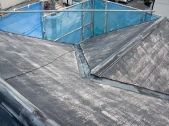 岸和田市岡山町の高圧洗浄後の屋根