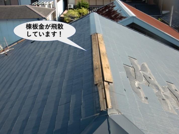泉大津市の棟板金が飛散