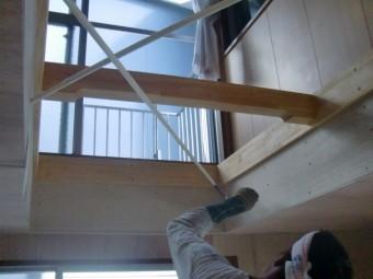 岸和田市小松里町のブレース塗装