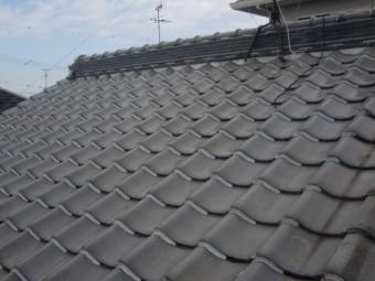 貝塚市の温水器を撤去した屋根