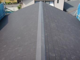 岸和田市吉井町のスレート瓦に葺き替えた屋根