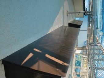 岸和田市天神山町の庇塗装