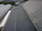岸和田市土生町の下屋根の軒天井板の上にルーフィング張り