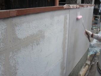 泉北郡忠岡町の塀下塗り