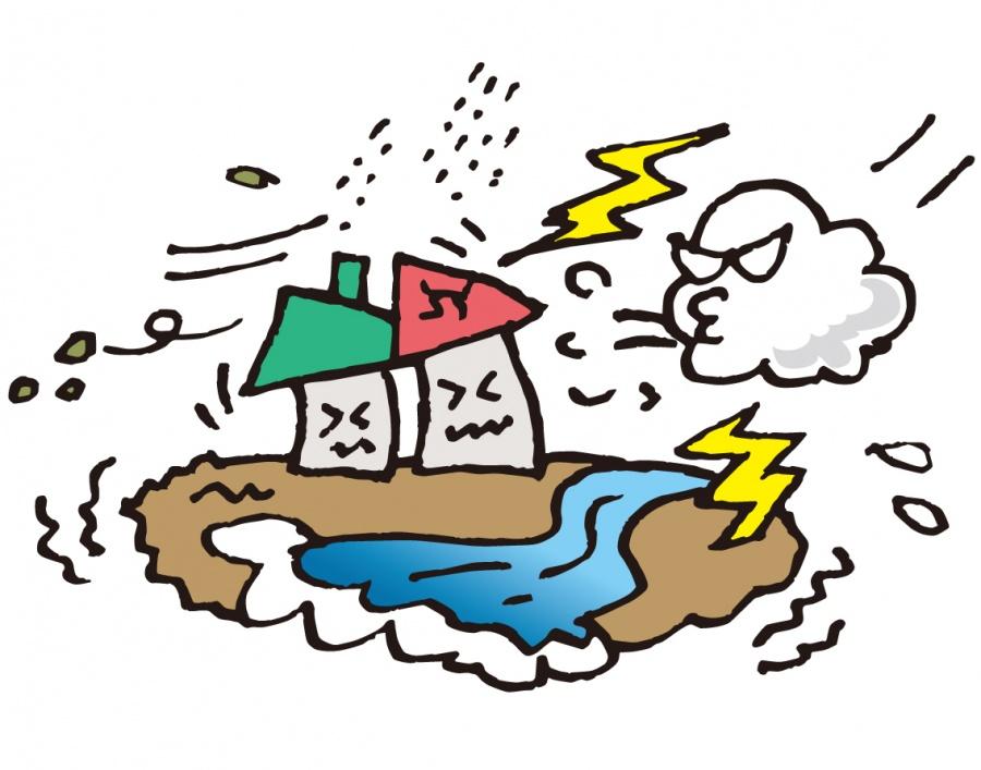 街の屋根やさん岸和田店・自然災害