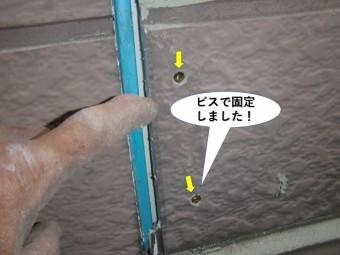 和泉市のサイデイングをビスで固定