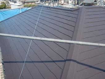 岸和田市尾生町のスレート屋根塗装完了