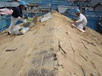 岸和田市吉井町の屋根防水シート