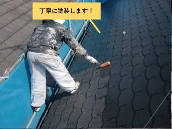 熊取町の屋根を丁寧に塗装します