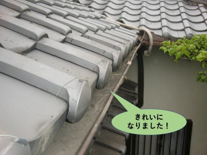 岸和田市の軒樋がきれいになりました!