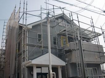泉佐野市俵屋で遮熱塗料での屋根塗装着工