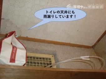 岸和田市の一階のトイレの天井にも雨漏りしています