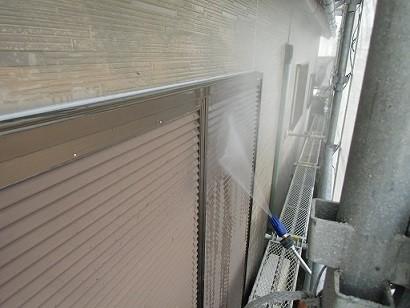 岸和田市真上町の屋根塗装と外壁塗装で高圧洗浄