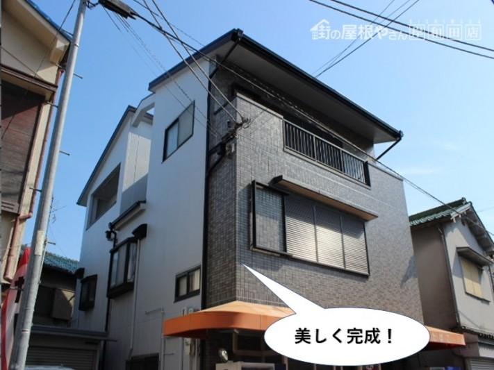 岸和田市の外壁塗装で美しく完成