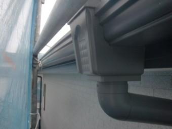和泉市の雨樋塗装完了