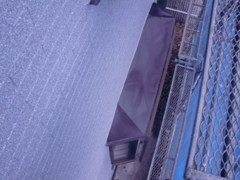和泉市の出窓の上塗装