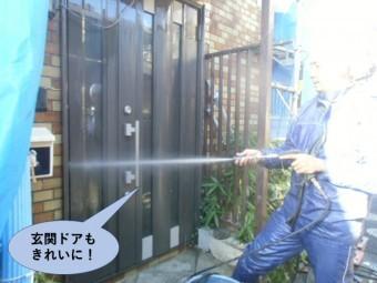 岸和田市の玄関ドアもきれいに