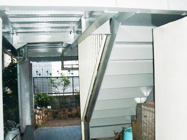 岸和田市春木の鉄部塗装完了
