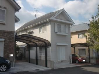 岸和田市下松町の外壁塗装前の様子