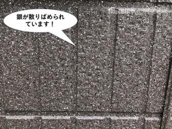 泉大津市の外壁に銀がちりばめられています