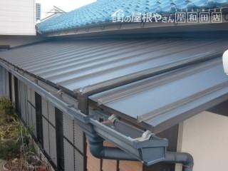 岸和田市 ガルバリューム鋼板屋根葺き替え