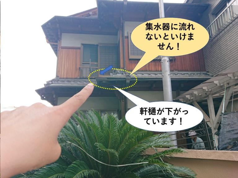 泉佐野市の雨水が集水器に流れないといけません