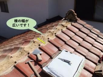 岸和田市の棟の幅が広いです