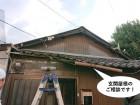 貝塚市の玄関屋根のご相談です