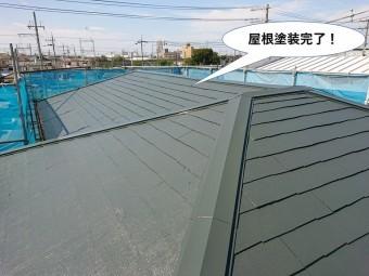 岸和田市の台風被害で屋根板金やスレート差替えと遮熱塗料で屋根・外壁塗装したお客様の声