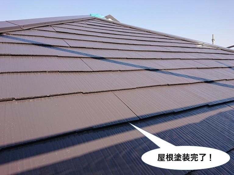 忠岡町の屋根塗装完了