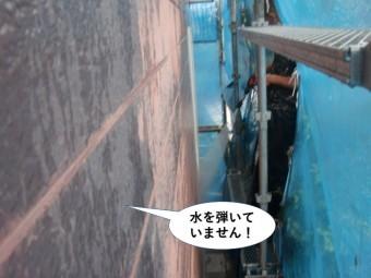 和泉市のサイディングが水を弾いていません