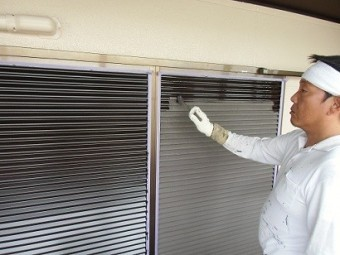 真上町の外壁塗装と屋根塗装で外壁部分塗装