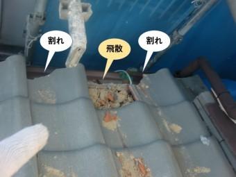 和泉市の下屋の被害