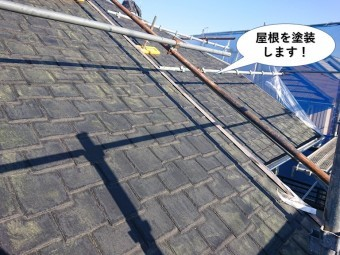 貝塚市の屋根を塗装します