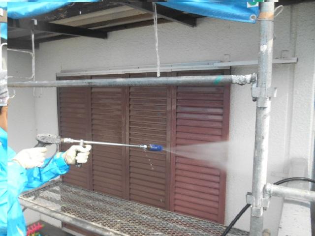 岸和田市天神山町の外壁洗浄