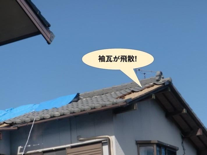 阪南市の袖瓦が飛散
