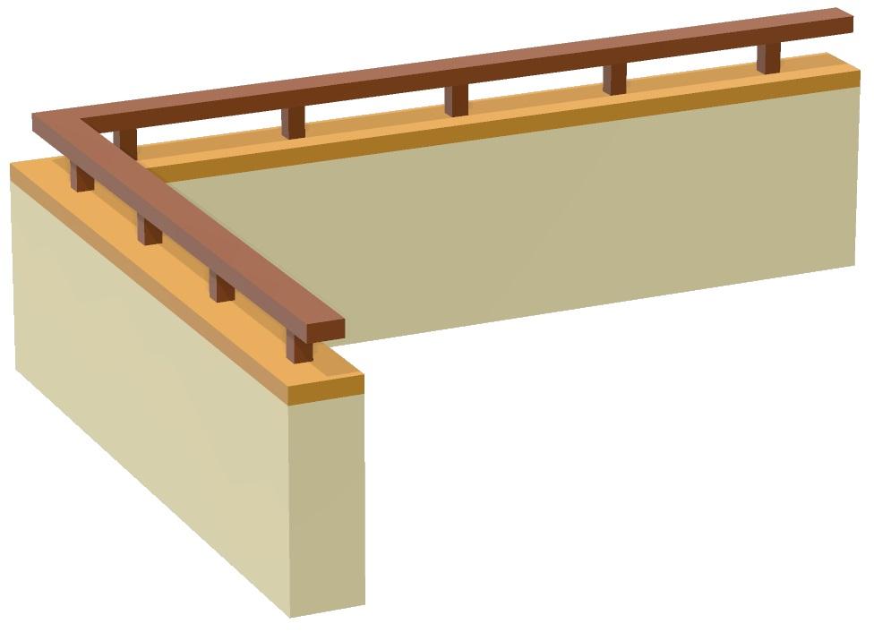 岸和田市の雨漏り修理でベランダにガルバリウム鋼板で笠木を取付け