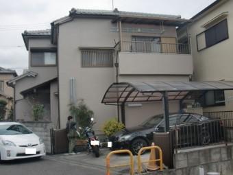 岸和田市神須屋町の既存のカーポート