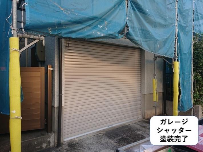 和泉市のガレージシャッター塗装完了