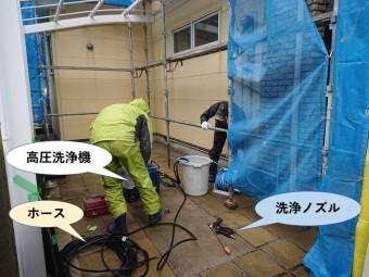 阪南市で高圧洗浄機を使用して洗浄します
