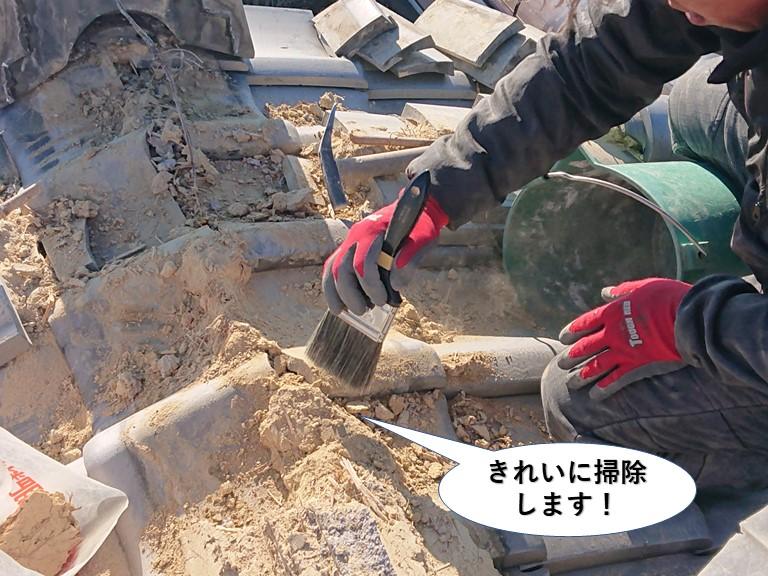 貝塚市の棟をきれいに掃除します