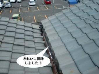 和泉市の樋をきれいに掃除しました