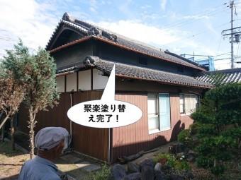 岸和田市の聚楽塗り替え完了