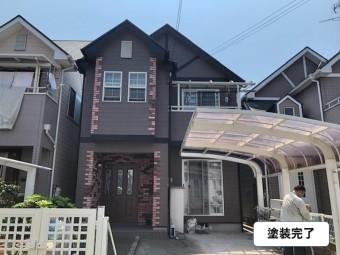 和泉市の屋根と外壁塗装完了
