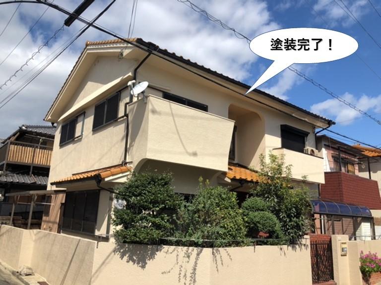 和泉市の外壁塗装完了