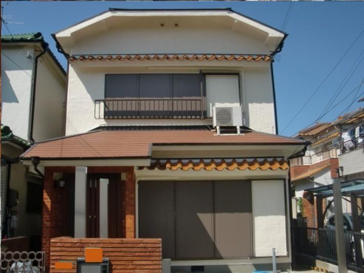 岸和田市の付帯部の塗装完了
