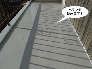 泉大津市のベランダ防水完了