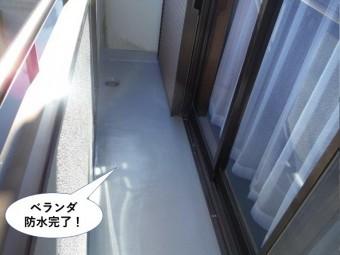和泉市のベランダ防水完了