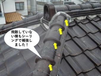 泉南市の飛散していない棟もシーリングで補強