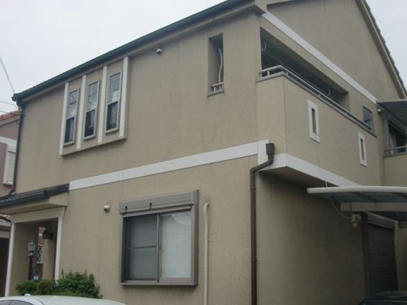 岸和田市西之内町の塗装前の外観